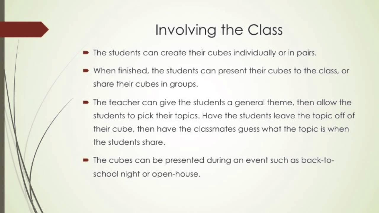 Cubing Instructional Procedure Youtube