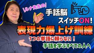 【手話脳】手話表現力爆上げ訓練/CL表現の練習をしよう!/日本手話/初心者〜上級者まで