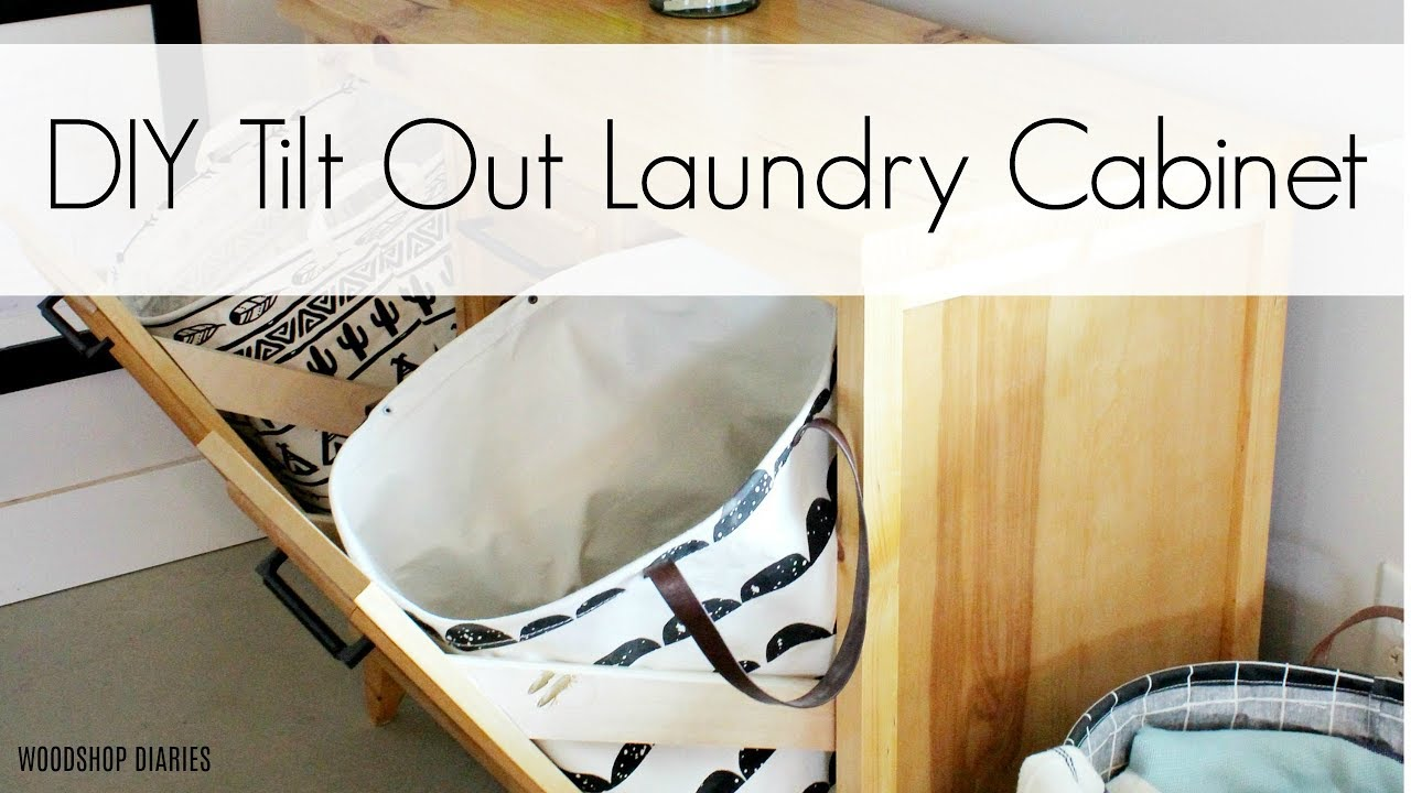 How To Build A Tilt Out Laundry Cabinet Youtube