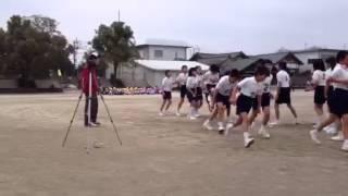 柁城小学校5年2組長縄跳び
