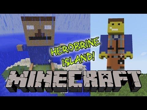 MINECRAFT - House Tour, Herobrine Island, Emmet Statue