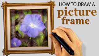 How To Draw A Picture Frame (Corel Painter 2015 Tutorial) [Draw This #55]