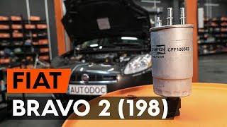 Cоmo cambiar filtro de combustible FIAT BRAVO 2 (198) [VÍDEO TUTORIAL DE AUTODOC]