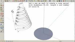 Video Cone spiral in SketchUp download MP3, 3GP, MP4, WEBM, AVI, FLV Desember 2017