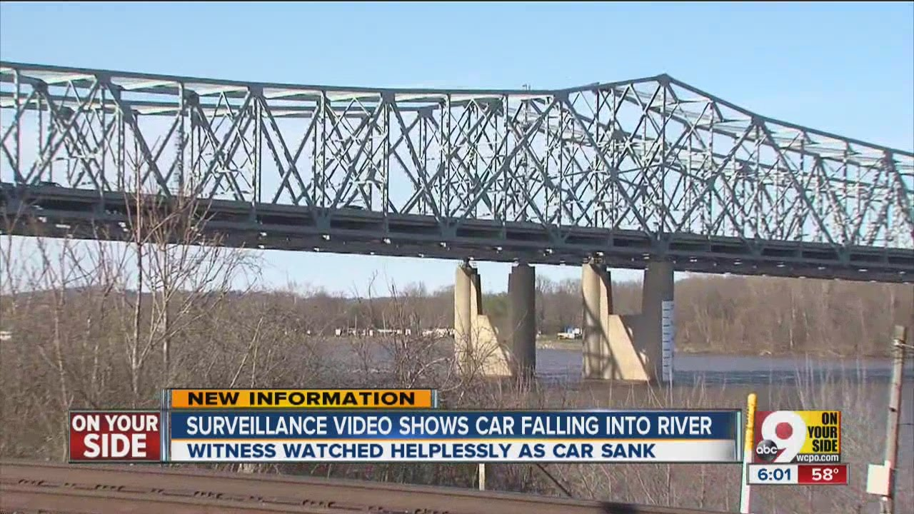 Witness watched helplessly as car falls off bridge