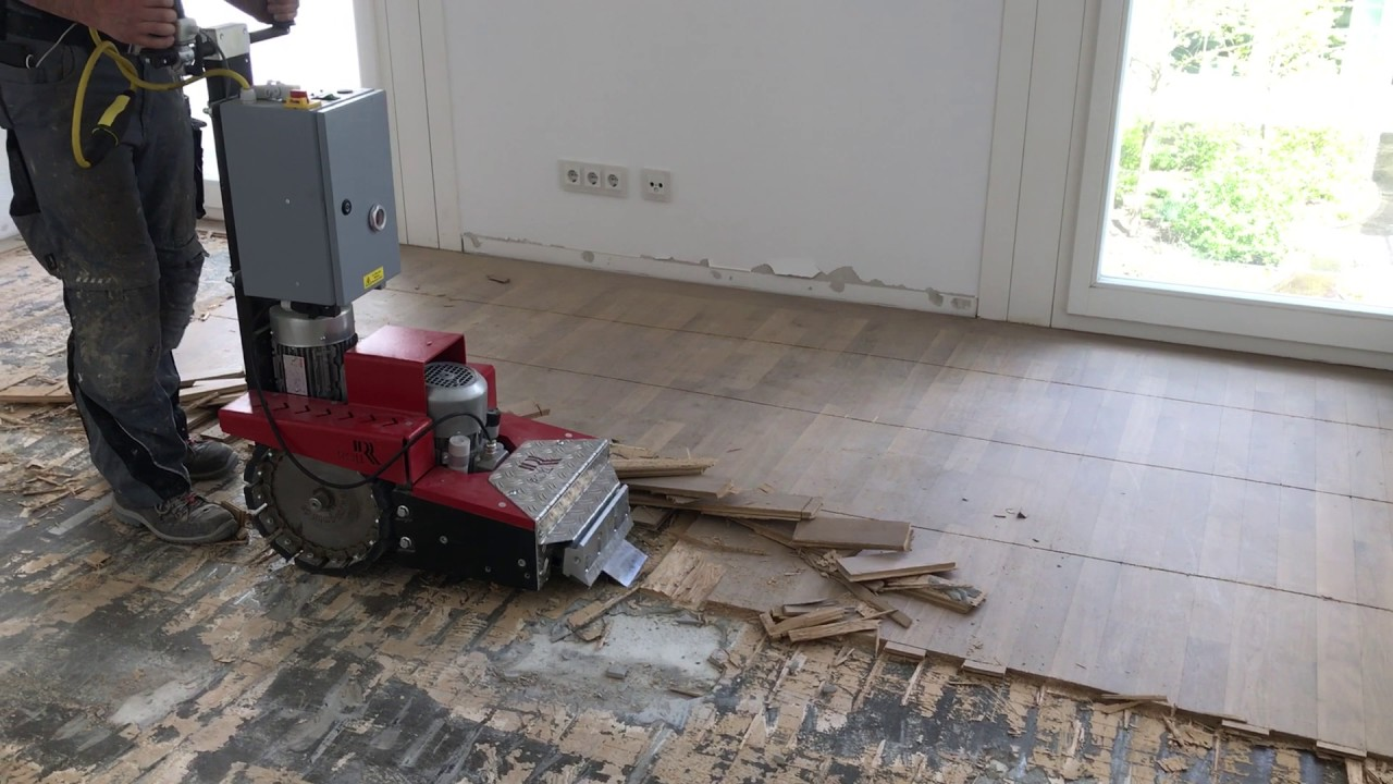 Parkett Entfernen Remove Stuck Parquet With Stripper Machine