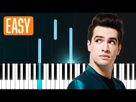 """Panic! At The Disco - """"Dying In LA"""" 100% EASY PIANO TUTORIAL"""