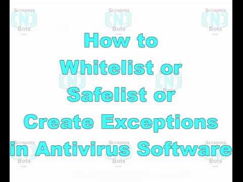 how to add programs to avast whitelist