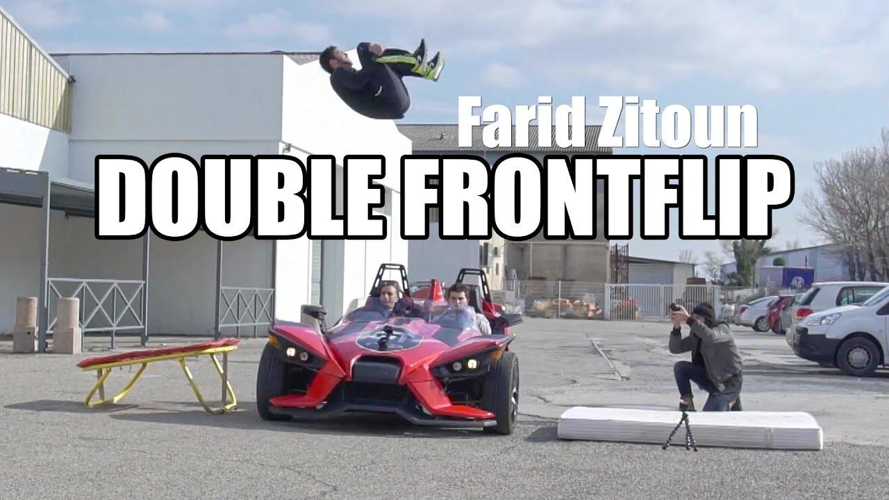DEFI : DOUBLE FRONTFLIP au dessus d'une voiture en mouvement ! (feat. Farid Zitoun)