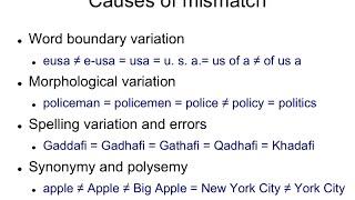 IR4.2 Causes of vocabulary mismatch