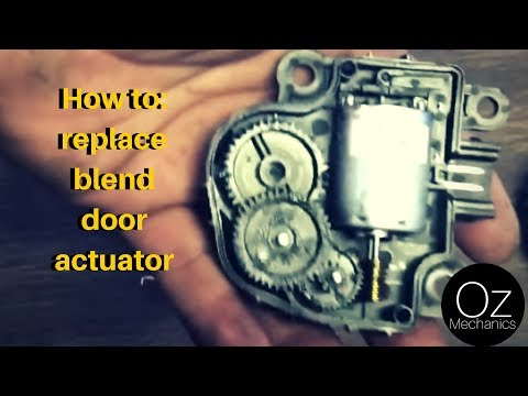 How to replace blend door actuator