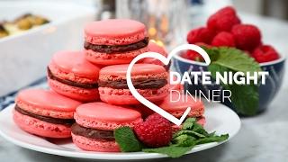 Date Night Dinner with COVERGIRL | Chocolate Raspberry Macarons, Beef Tenderloin & Stuffed Mushrooms