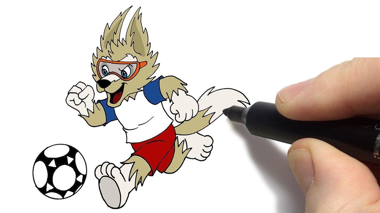 Como Desenhar O Mascote Da Copa Russia 2018 Zabivaka Fifa