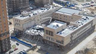 Разбор завалов рухнувшей школы в Мурино