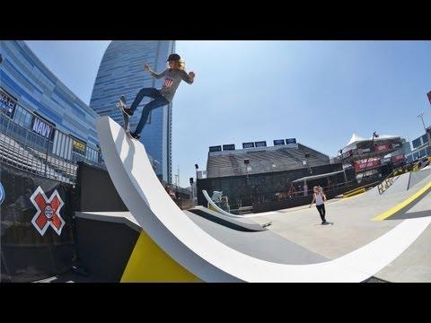 Blog Cam # - X Games Girls Skate Street Practice Day