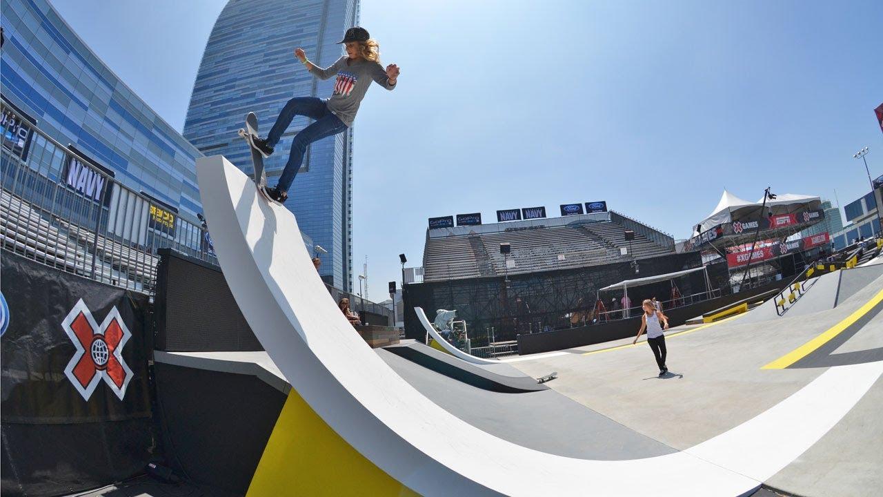 X Games Girls Skate Street Practice Day 1