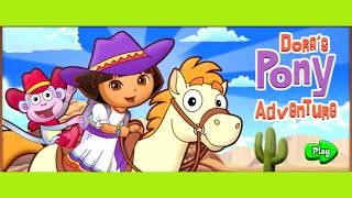 Даша путешественница и пони, гонки, пони #1, мультик игра, #kids, #dora