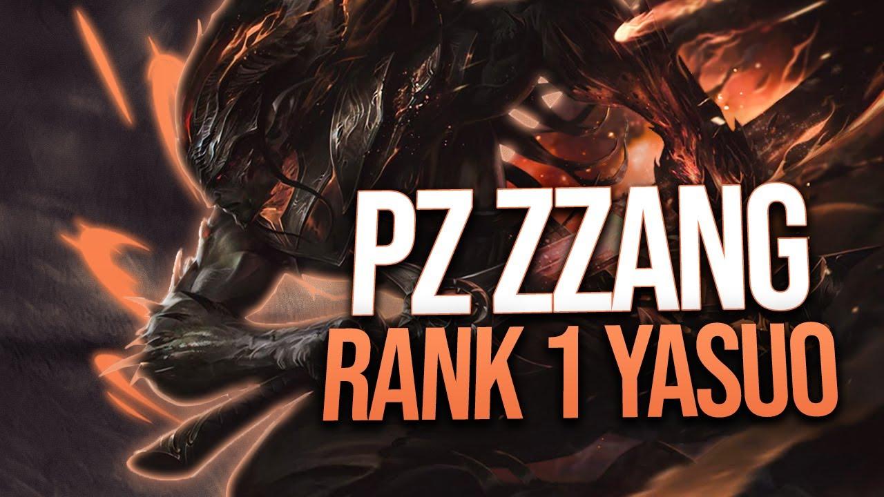 "Pz Zzang ""RANK 1 YASUO WORLD"" Montage   League of Legends"