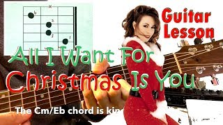 Download lagu All I Want For Christmas Is You - Guitar lesson & Chord tutorial Guitar Soldier