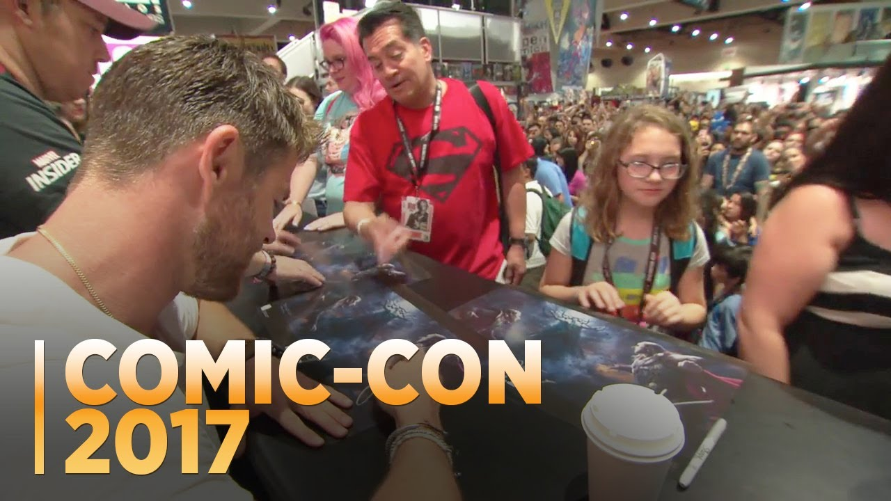 Marvel Booth Signing Comic-Con 2017