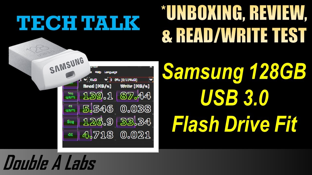 Samsung 128gb Usb 3 0 Flash Drive Fit Unboxing Review Youtube