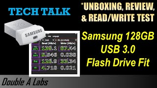 Samsung 128GB USB 3.0 Flash Drive Fit UNBOXING & REVIEW
