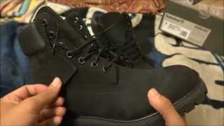 Timberland 6 Premium Water Proof All Black Boots & Unboxing and On Feet Review (HD) Sony FDR-AX100