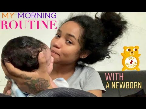Newborn Morning Routine (2 Weeks Old) | First Time Mommy 🙌🏽🧸