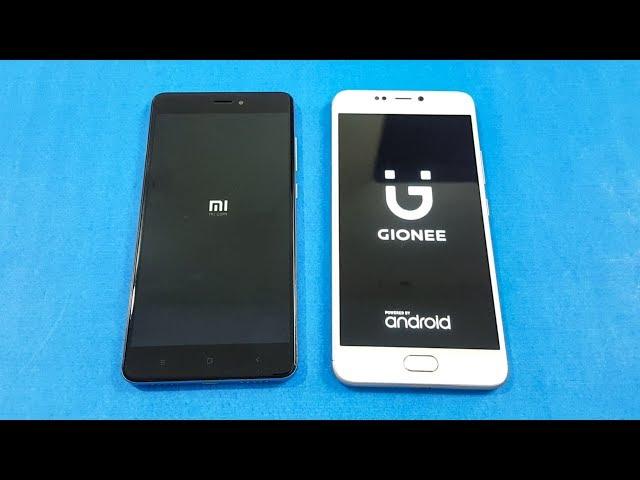 Xiaomi Redmi Note 4 vs Gionee A1 SPEED TEST COMPARISON | Mobile Comparison!