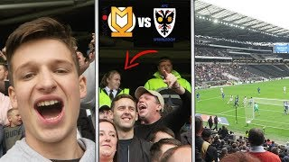 SECURITY FAIL TO KICK OUT FANS - MK Dons vs AFC Wimbledon