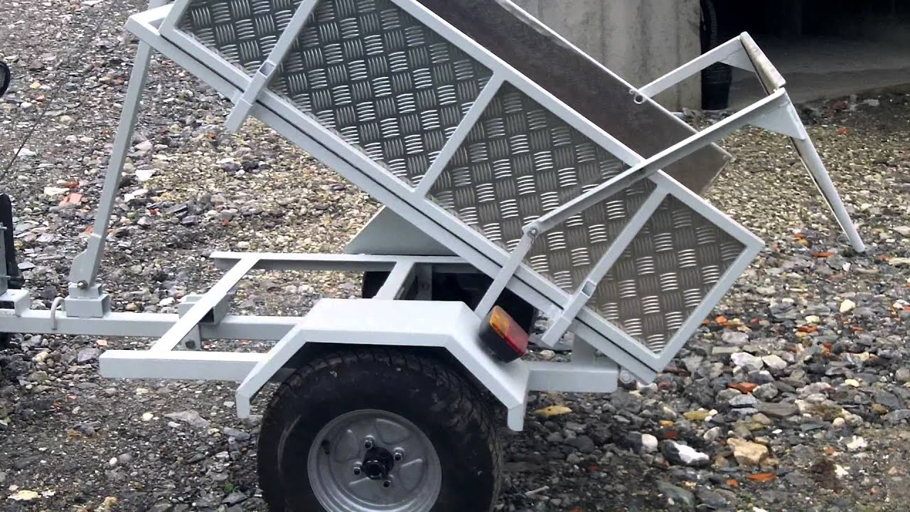 remorque quad basculante avec un treuil 12v youtube. Black Bedroom Furniture Sets. Home Design Ideas