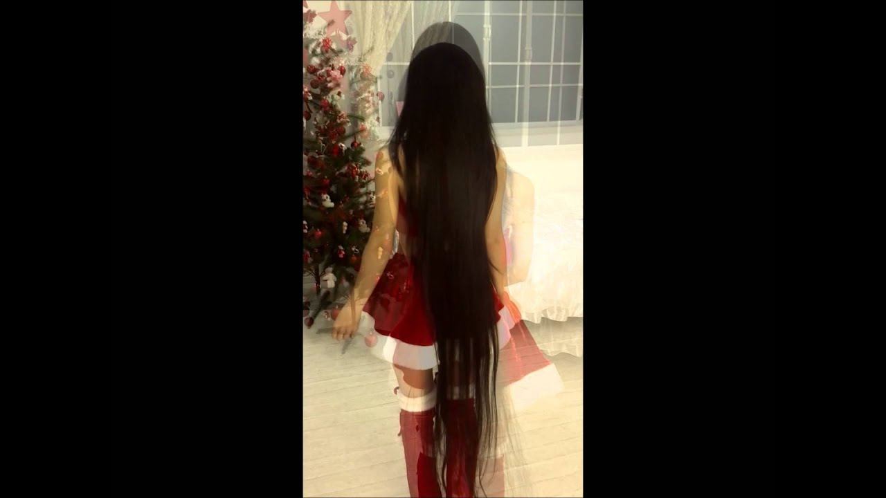【黒髪ロング】merry X Mas Japanese Super Longhair【超ロングヘア】