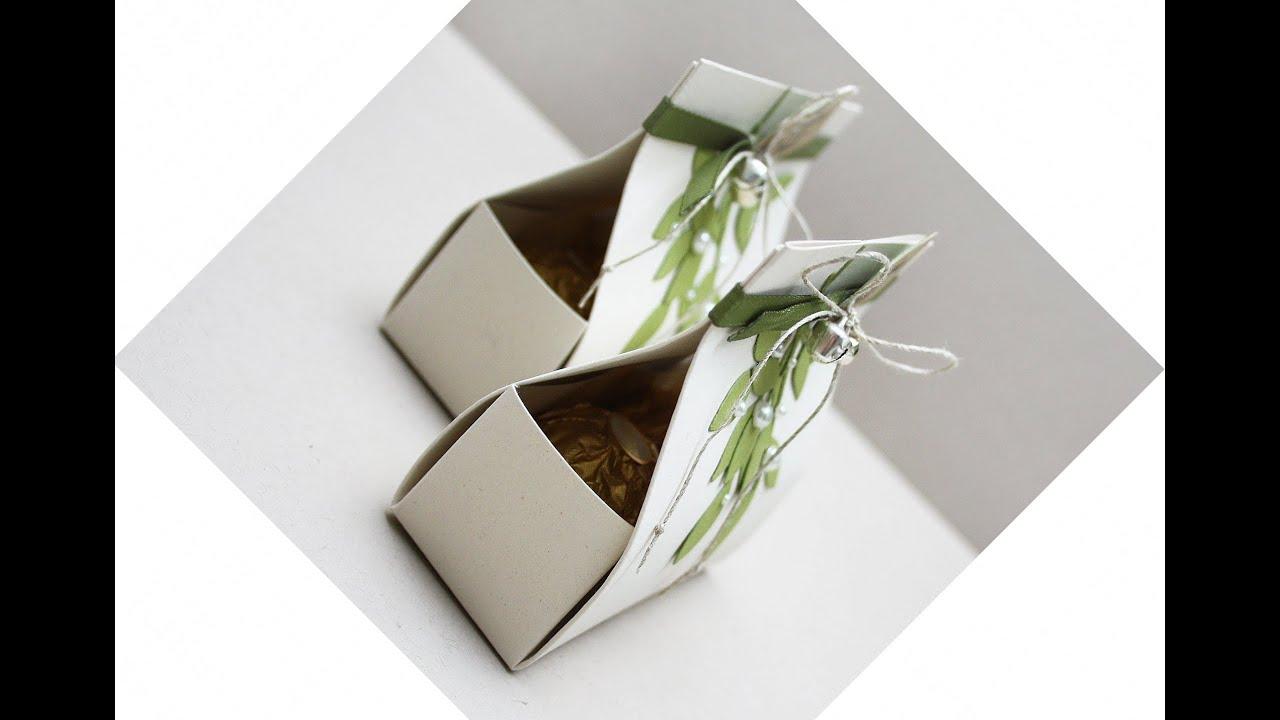 Коробка для подарка без клея своими руками
