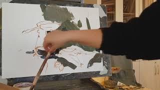 Натюрморт с примусом. Гуашь. Короткая демонстрация на уроке в художественной школе