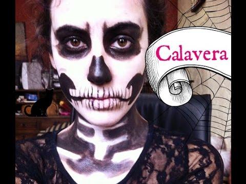 tutorial de maquillaje calavera  skull makeup easy