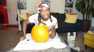 EXTREME PUMPKIN CARVING | for National Coming Out Day
