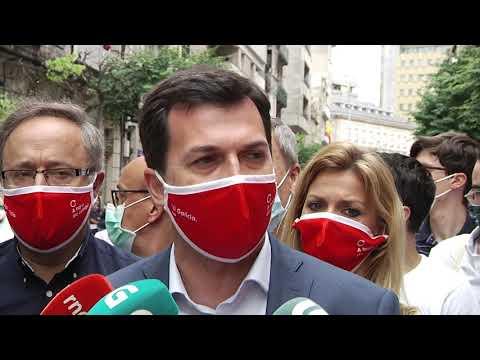 Gonzalo Caballero en la carpa del PSOE 2 7 20