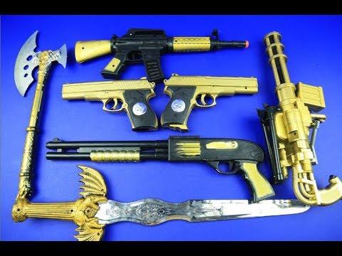 Box Of Toys Gold GUNS BOX Toys Military Amp Police