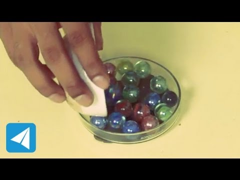 Marbles illustrate the action of ball bearings | Friction | Physics