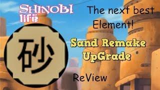 Roblox - Shinobi Life   Sand Element Upgrade   It's soo good now!