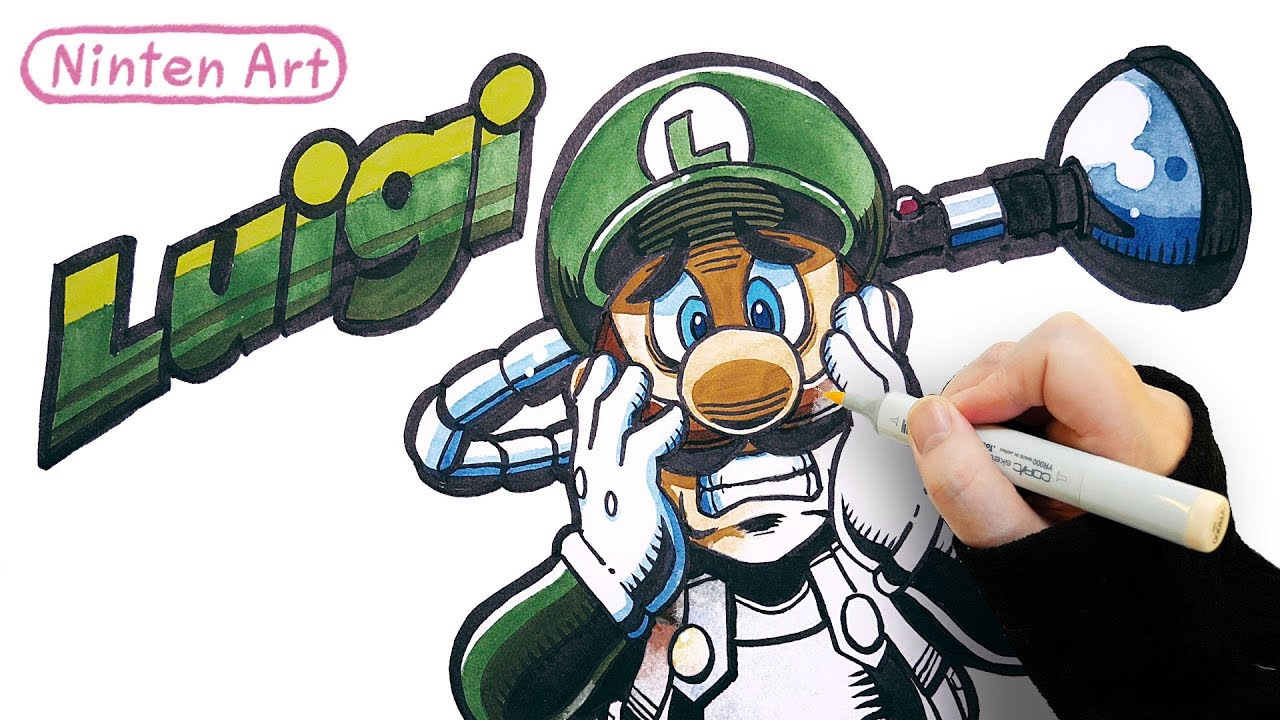 How To Draw Luigi Luigi S Mansion 3 Coloring And Drawing For Kids Youtube