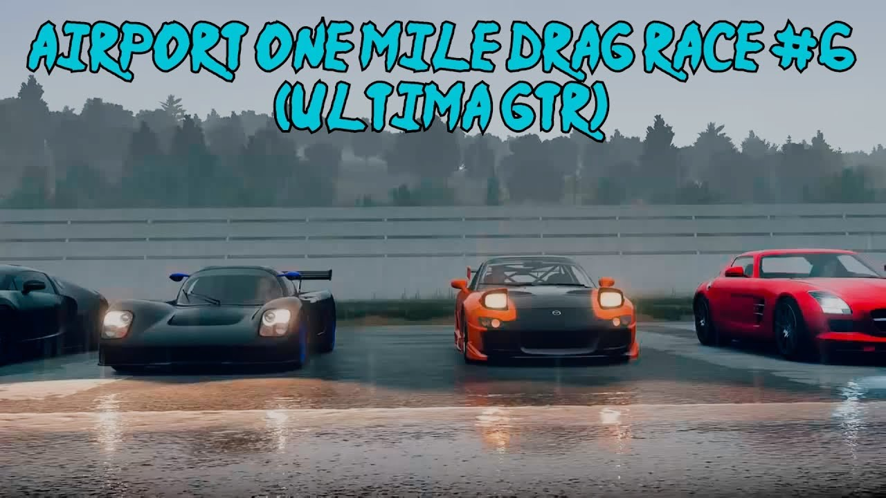 forza horizon 2 airport one mile drag race 6 ultima gtr youtube. Black Bedroom Furniture Sets. Home Design Ideas