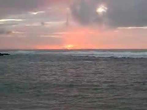 Sunset at Ke'e Beach