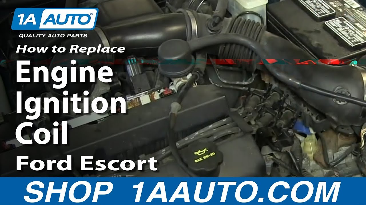 How To replace Fix Engine Ignition Coil 1998-03 Ford Escort ZX2 2.0L ...