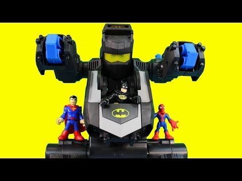Imaginext Superman Controlled by Scarecrow Neurotoxin Flash Wolverine Spider-man Batman