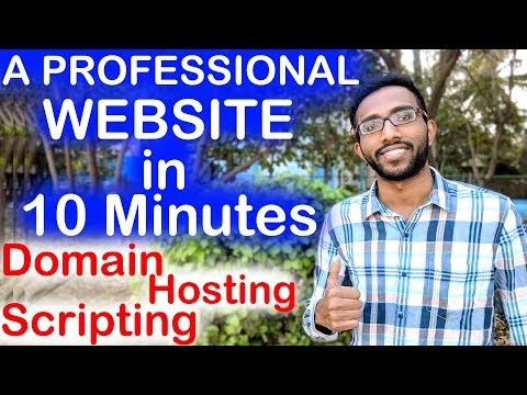 How to Make A Professional Website in Just 10 Minutes - Step by Step Tutorial 2019 - Techie SDS - 동영상