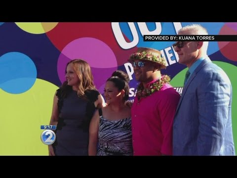 Local singers attend Hollywood premiere of Disney/Pixar animations 'Inside Out,' 'Lava'