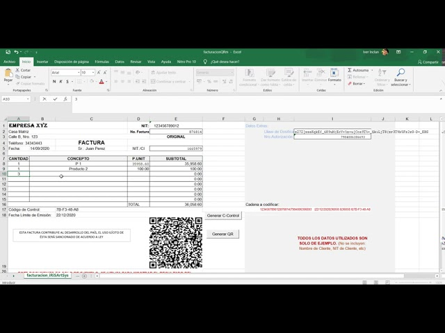 #SFV #QR #Codigo_de_control #Excel #Onedrive
