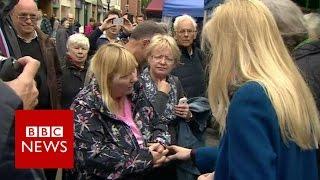 Woman tells Theresa May  I'm angry because I've no carer   BBC News