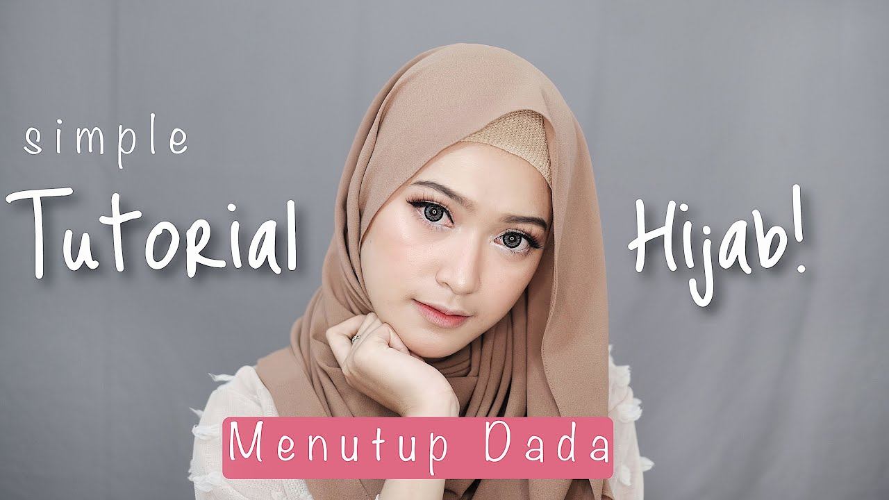 simple hijab tutorial menutup dada | saritiw - youtube